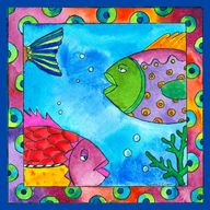tropical fish artwor