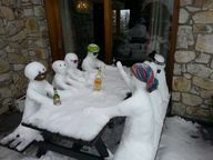 An awesome snow scul
