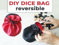 Free DIY Dice Bag Pattern and Video Tutorial (Its reversible!)