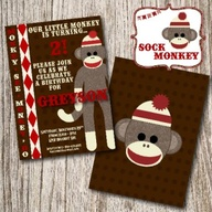 Sock Monkey Invitati
