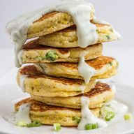 Savory Breakfast Corn Cakes