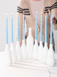 A DIY Menorah for Ha