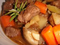 BEEF STEW with MUSHR