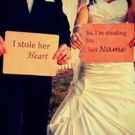 Love this cool weddi