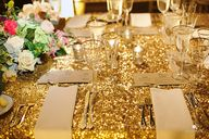 Gold Sequined Tablec