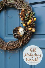 Fall Hedgehog Wreath