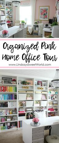 Lindsays Sweet World: Organized Pink and Gold Home Office Refresh + Tour