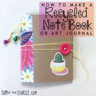How to make a recycled note book