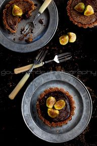 3 chocolate fig tart...