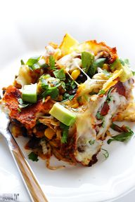 Stacked enchiladas