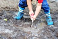 digging in the mud