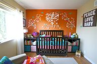 Orange Accent Wall w