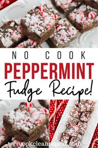 This easy peppermint fudge recipe is chocolatey, indulgent, and has a peppermint crunch on top! this tasty holiday fudge is perfect to share!