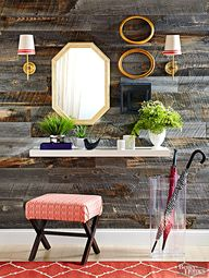 Get the look of an antique barnwood wall without the labor of love. Sheathe an accent wall in beautiful reclaimed-wood planks instead, with these stick-on options from Stikwood. The planks rely on a strong peel-and-stick tape to fasten to painted drywall.