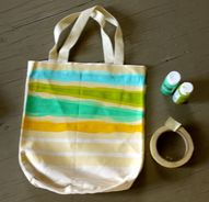 Make striped tote ba