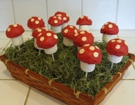 cake pops in grass/m