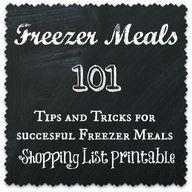 Freezer Meals 101 in