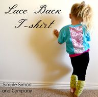 Lace Back T-shirt Tu