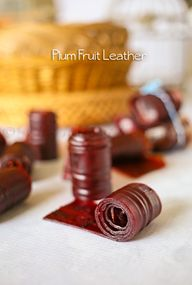 Plum Fruit Leather o