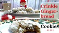 Crinkle Gingerbread Cookies