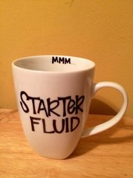 DIY Sharpie mug.  Gr