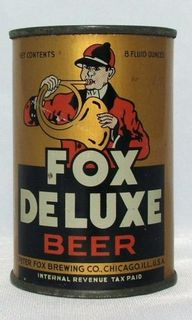 Fox Deluxe Beer ,Chicago -c.1940s ( 8oz F.T ) RARE