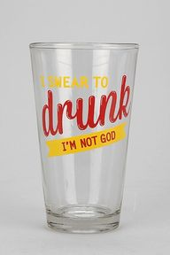 Drunk Pint Glass
