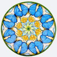 Blue Butterfly Manda...