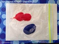 No-Mess Fingerpainti