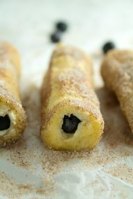 Blueberry French Toast Roll-Ups
