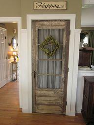 Old door on a kitche