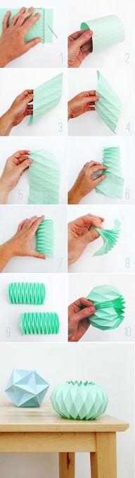 origami lampshade ht