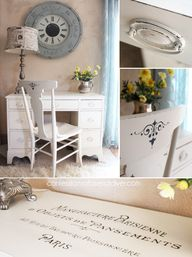 Desk with French Gra
