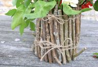 Twig flower pots for giving, or keeping: a tutorial - Nini Makes