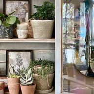 When the going gets tough the tough clean their cupboards.   Or they might possibly also have visited the stunning  #petershamnurseries  and been captivated by their inspirational displays...  Doubly fortunate because  its #MyWeekOfWindowsAndDoors2020 with @its_my_week Whoop! .  OK hands up if you knew that this was not my actual cupboard and that I just needed an excuse to share a little #shelflove today?  .  I do think that tidying up can bring therapeutic value sometimes Are you naturally gif