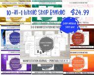Whole Shop Bundle Manifestation Journals Download Printable | Etsy