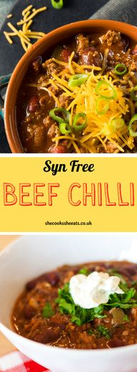 Yummy Recipes: Syn Free Beef Chilli- My quest for a simple yet comforting and healthy dinner lead me to this Slimming World beef chilli recipe. If you are like me, looking for a high-protein and packed with fresh veggies and beans dish, then lets dig in with this beef chilli recipe. #beeffoodrecipes #beef #beefdishes #beefstew beefrecipes