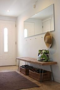 Decluttered Entryway