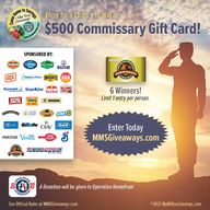 Don't Miss This AMAZING #veteransday Giveaway 🙌🏻 🎉 🇺🇸 Enter For Your Chance To Win A $500 @DefenseCommissaryAgency Giftcard 🎁 By Visiting ➡️ MMSGiveaways.com #giveaway #giftcards #giftcard #winner #military
