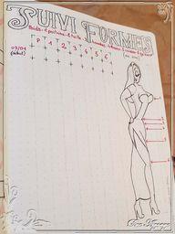 Du côté du Bujo #12 – Tracker de mensuration et de perte de poids | Blog Agoaye