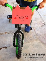 DIY Piggy Bike Baske