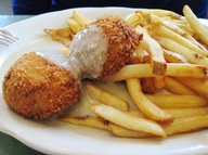 Chicken croquettes w