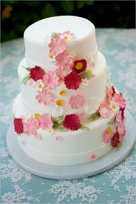 white and pink weddi...