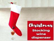 Christmas Stocking Wine Dispenser DIY - a Fun Handmade Gift