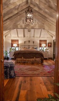 25 Dreamy Attic Bedrooms. Messagenote.com I love the hardwood and rug and scale of this room.