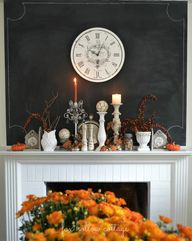 Fall Mantel. Love th