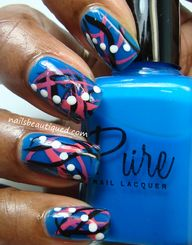 Abstract Nail Art De