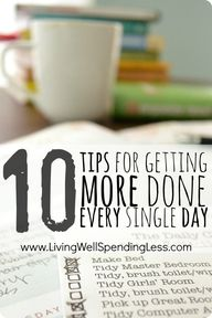 10 Tips for Getting