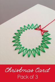 Pack of 3 Handmade Modern Stitched Christmas by ByJustPeachy, €13.00