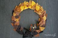 Felt leaf wreath DIY
